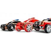 Набор автомобилей-конструкторов Automoblox Mini 3 pack Полиция, Пожарная и Скорая помощь