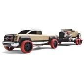 Набор автомобилей-конструкторов Automoblox Hot Rod Trailer Set